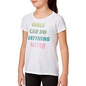 Reebok Girls' Cotton Raglan T-Shirt