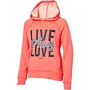 Reebok Girls' Performance Fleece Live Play Love Graphic Hoodie