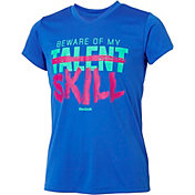 Reebok Girls' V-Neck Beware My Talent Graphic T-Shirt
