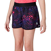 save off f9374 20518 Product Image Reebok Girls  Printed Running Shorts