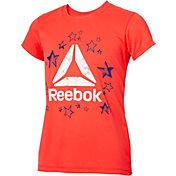 Reebok Girls' Crewneck Star Delta Graphic T-Shirt
