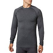 Reebok Men's Cold Weather Compression Heather Crewneck Long Sleeve Shirt