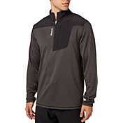 Reebok Men's Woven Pieced 1/4 Zip Long Sleeve Shirt