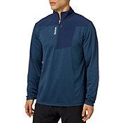 Reebok Men's Woven Pieced 1/4 Zip Long Sleeve Shirt