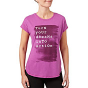 Reebok Women's Dreams Into Actions Graphic T-Shirt