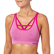 Reebok Women's Front Interest V-Neck Seamless Heather Sports Bra