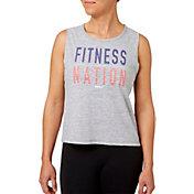 Reebok Women's Fitness Nation Graphic Crop Tank Top