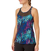 Reebok Women's Performance Printed Mesh Piecing Tank Top