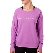 Reebok Women's Running Late Is My Cardio Graphic Sweatshirt