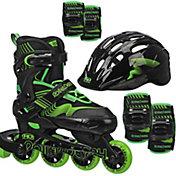 Roller Derby Boys' Carver Adjustable Inline Skates and Protective Pack