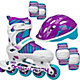 Roller Derby Girls' Carver Adjustable Inline Skates and Protective Pack