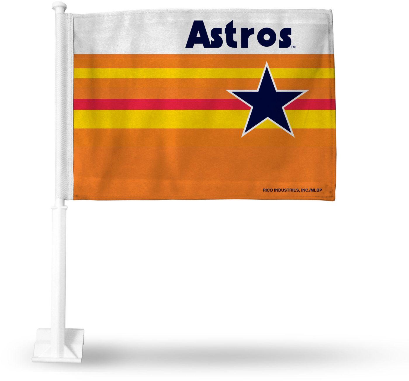 Rico Houston Astros Throwback Car Flag
