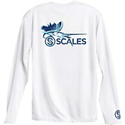 Scales Men's Sailfish Logo Performance Long Sleeve Shirt
