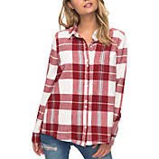 Roxy Women's Heavy Feelings Flannel Long Sleeve Shirt