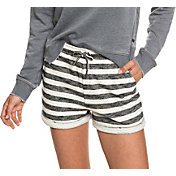 Roxy Women's Trippin Stripe Fleece Shorts