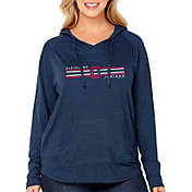 Soft As A Grape Women's Cleveland Indians Hoodie - Plus Size