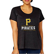 Soft As A Grape Women's Pittsburgh Pirates Tri-Blend Crew T-Shirt - Plus Size