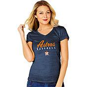 Soft As A Grape Women's Houston Astros V-Neck T-Shirt