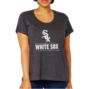 Soft As A Grape Women's Chicago White Sox Tri-Blend Crew T-Shirt - Plus Size