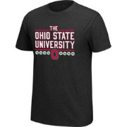 Scarlet & Gray Men's Ohio State Buckeyes Black Staple T-Shirt