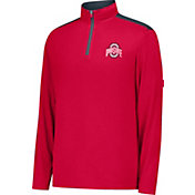 Scarlet & Gray Men's Ohio State Buckeyes Scarlet Get Up Quarter-Zip Top