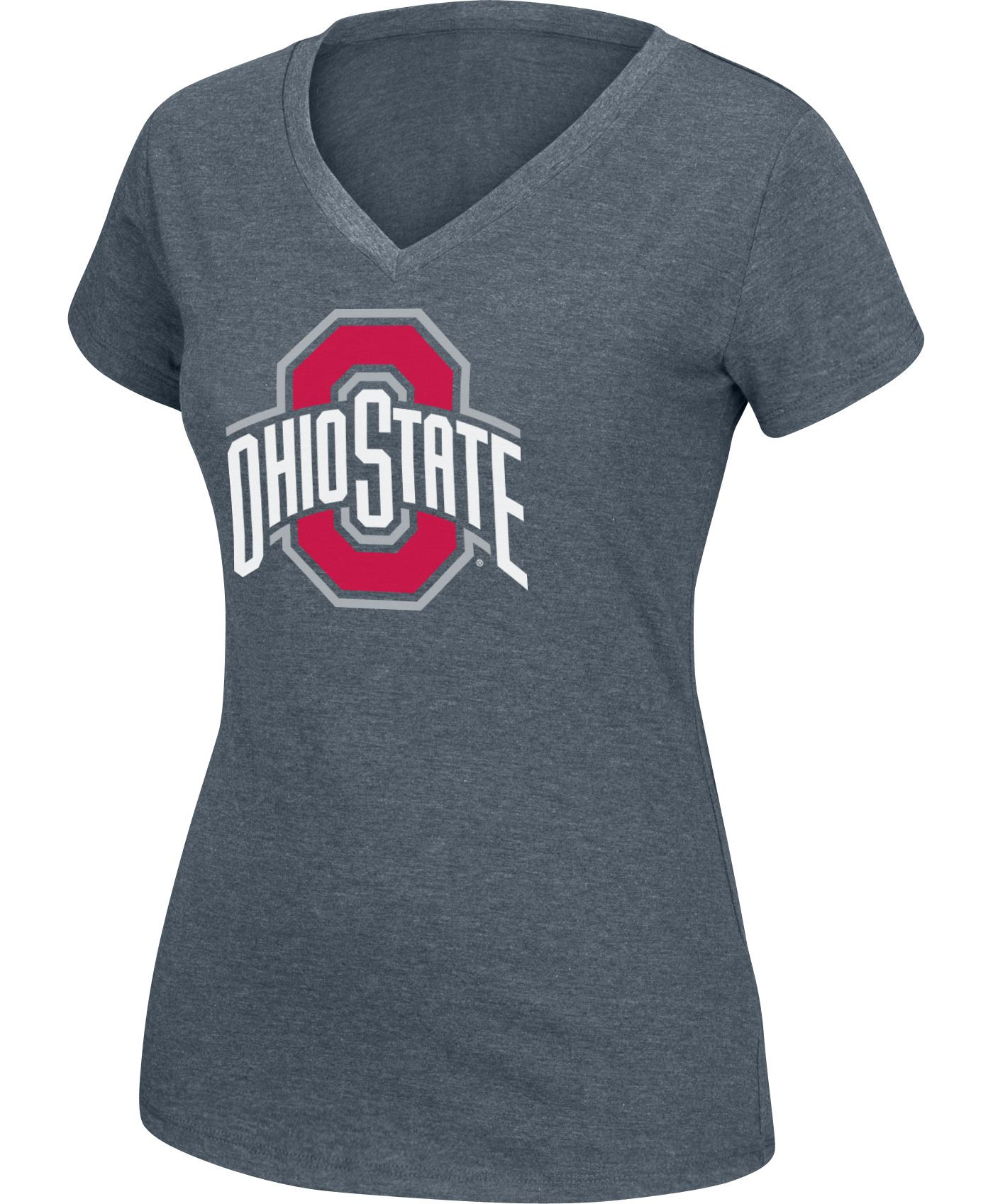 Scarlet & Gray Women's Ohio State Buckeyes Gray Favorite V-Neck Tee