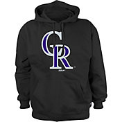 Stitches Men's Colorado Rockies Black Pullover Hoodie