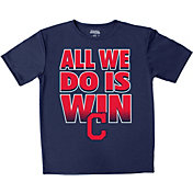 "Stitches Youth Cleveland Indians ""All We Do Is Win"" Navy T-Shirt"