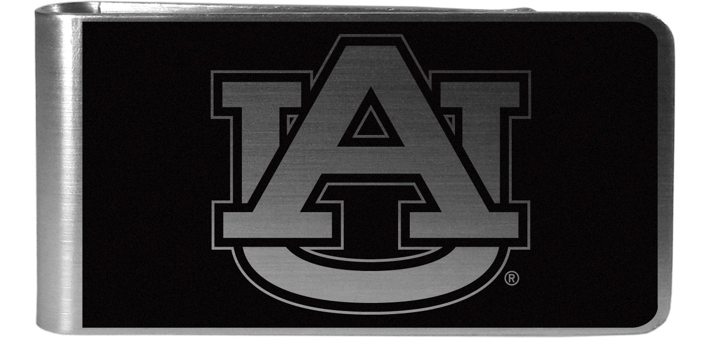 Auburn Tigers Black and Steel Money Clip