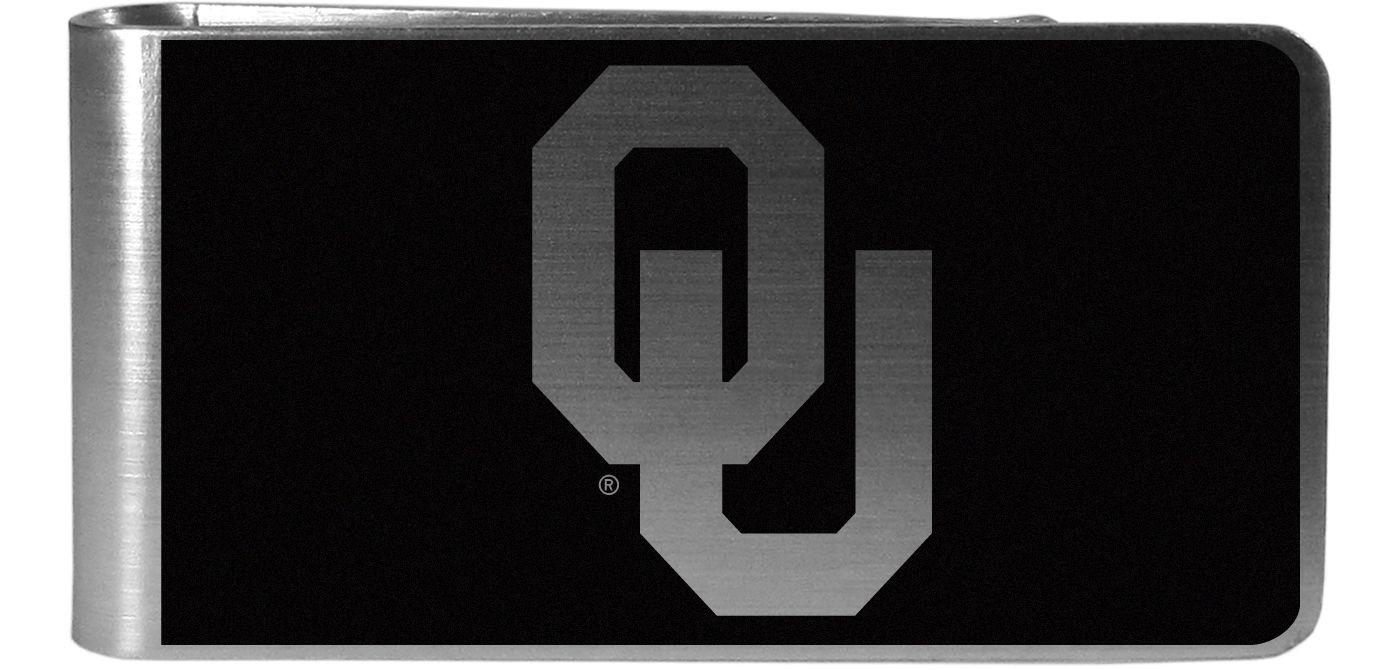 Oklahoma Sooners Black and Steel Money Clip