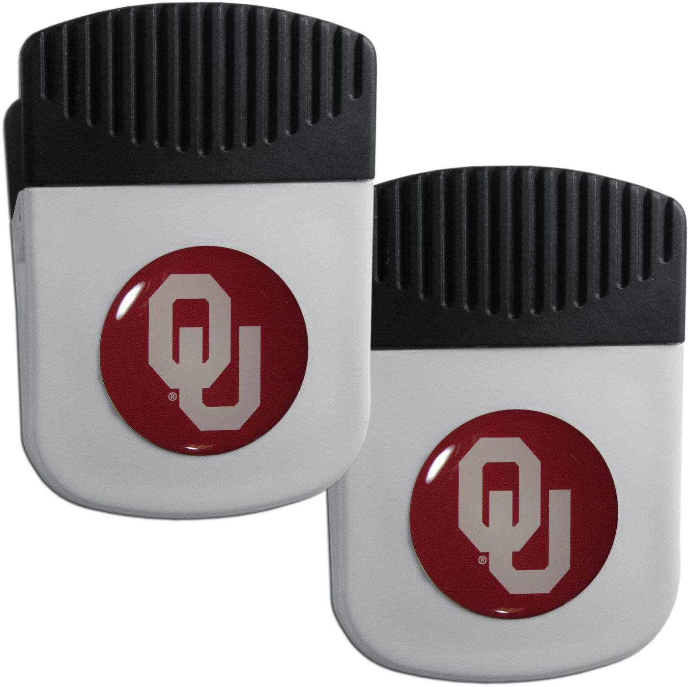 Oklahoma Sooners Chip Clip Magnet and Bottle Opener 2 Pack