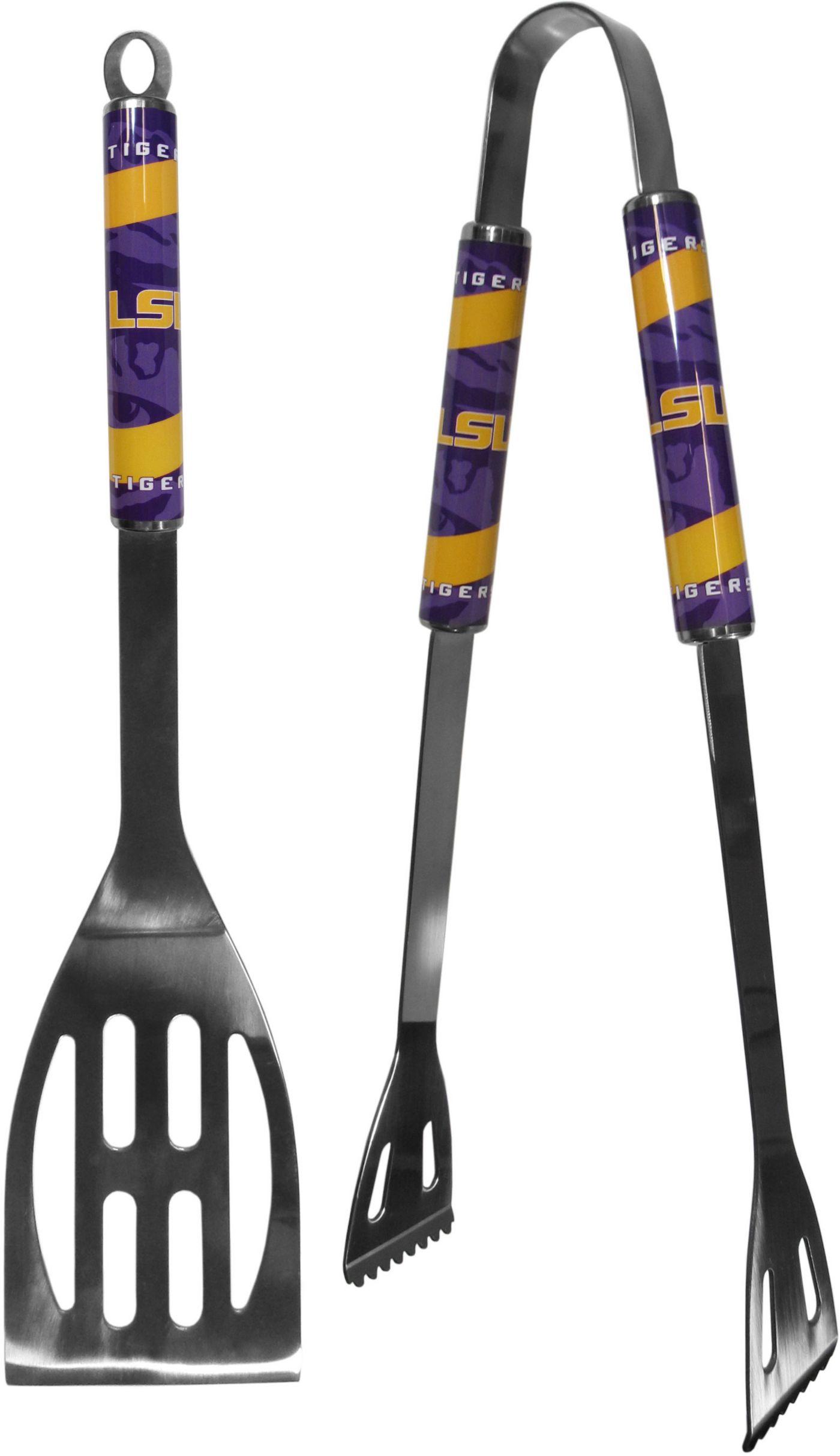 LSU Tigers 2-Piece Steel BBQ Tool Set