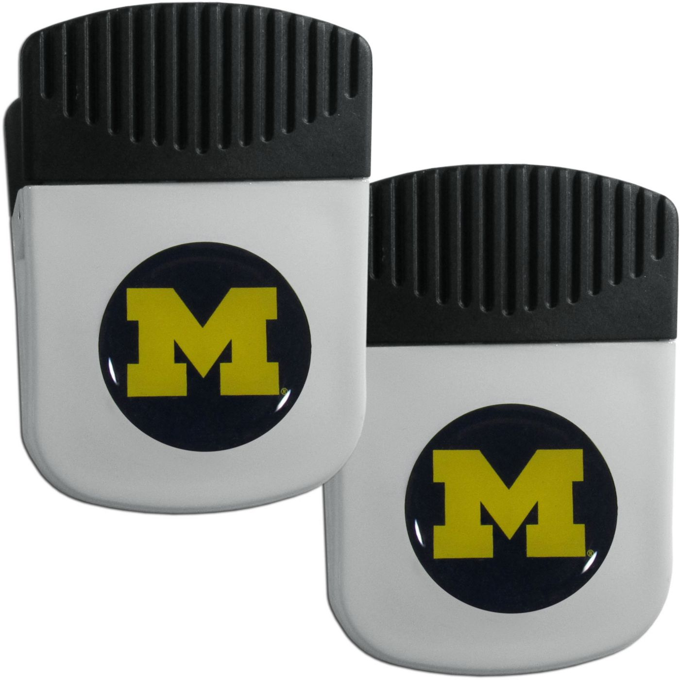 Michigan Wolverines Chip Clip Magnet and Bottle Opener 2 Pack