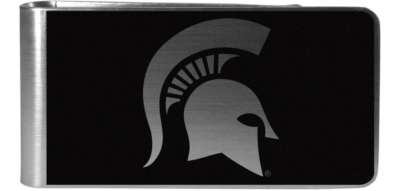 Michigan State Spartans Black and Steel Money Clip