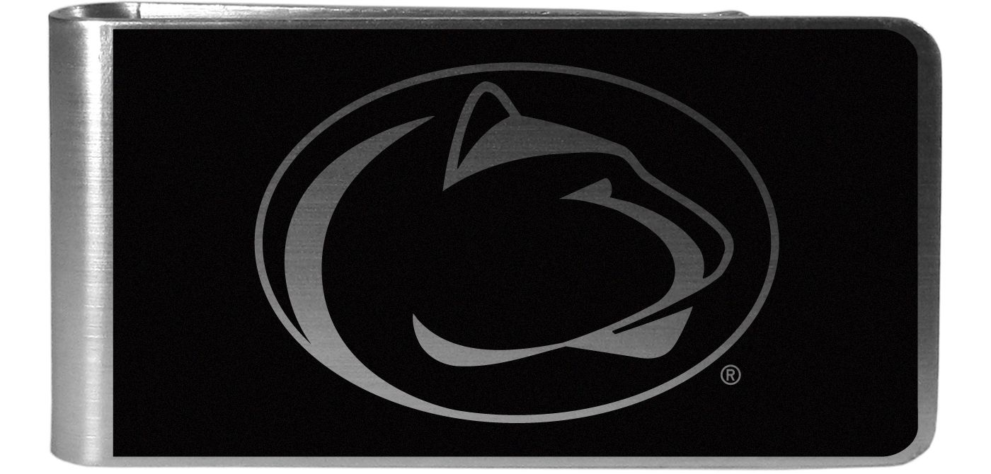 Penn State Nittany Lions Black and Steel Money Clip
