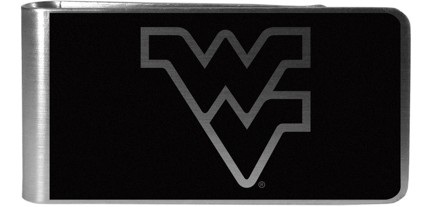 West Virginia Mountaineers Black and Steel Money Clip