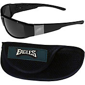 Philadelphia Eagles Wrap Sunglasses and Sport Case