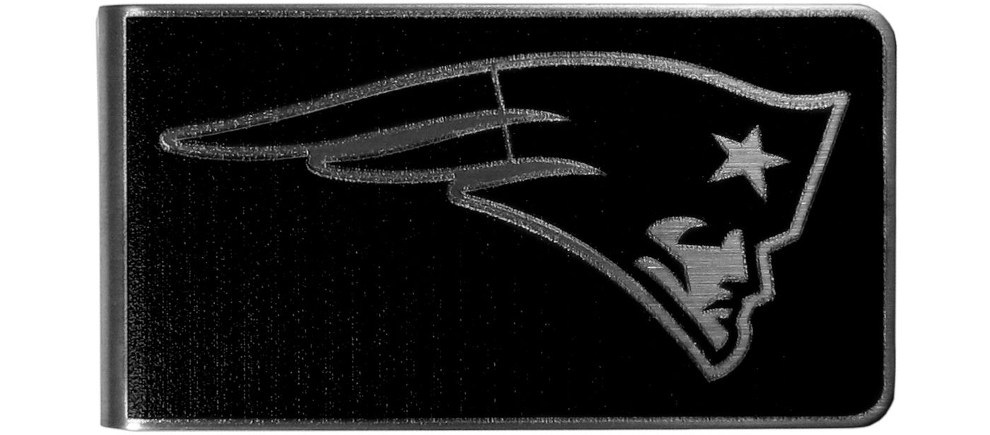 New England Patriots Black and Steel Money Clip