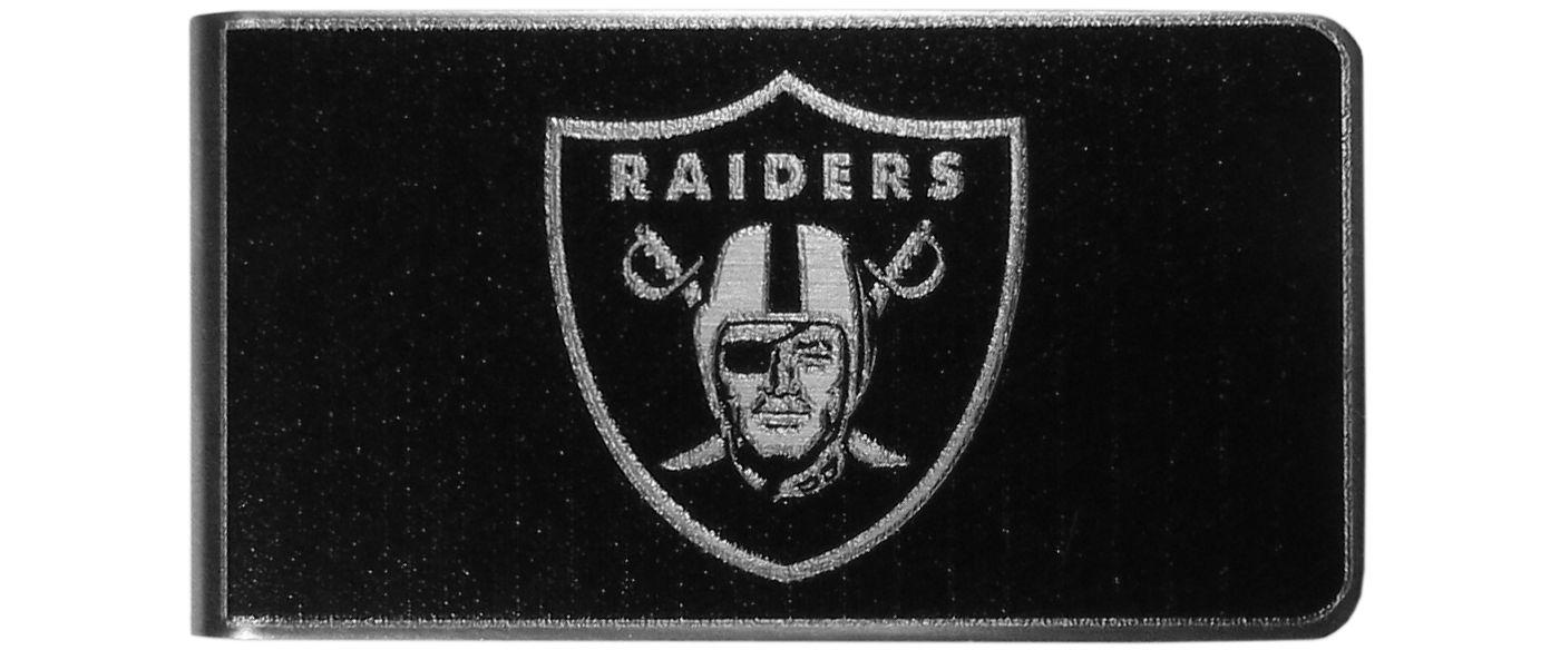 Oakland Raiders Black and Steel Money Clip