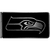 Seattle Seahawks Black and Steel Money Clip