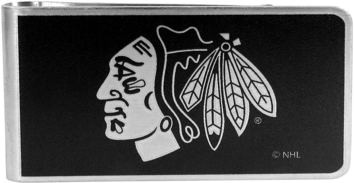Chicago Blackhawks Black and Steel Money Clip