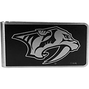 Nashville Predators Black and Steel Money Clip