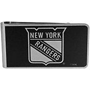 New York Rangers Black and Steel Money Clip