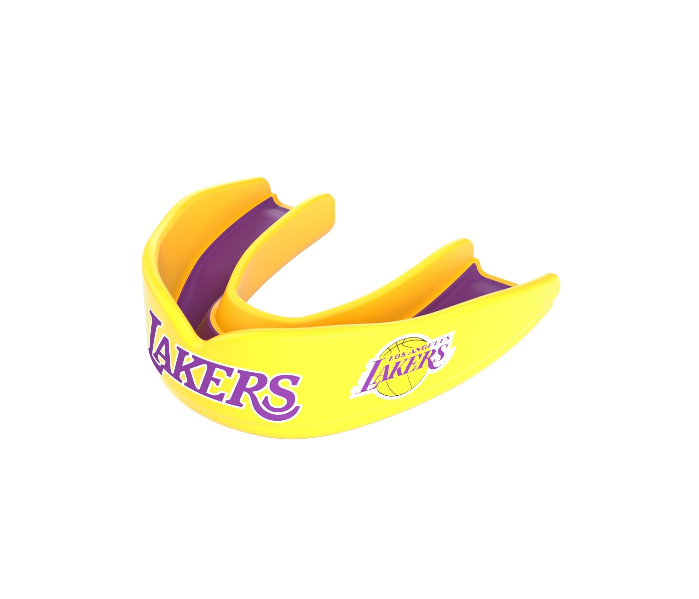 Shock Doctor Adult Los Angeles Lakers Strapless Basketball Mouth Guard