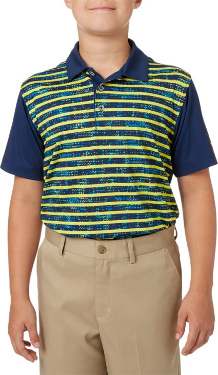 Slazenger Boys' Camo Stripe Printed Polo