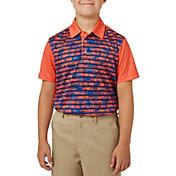Slazenger Boys' Camo Stripe Printed Golf Polo