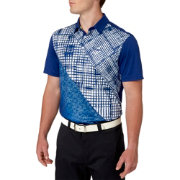 Slazenger Men's Frequency Ombre Check Golf Polo