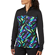 Slazenger Women's City Lights Collection Printed Quarter Zip Golf Jacket