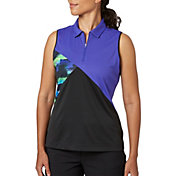 Slazenger Women's City Lights Collection Colorblock Sleeveless Golf Polo
