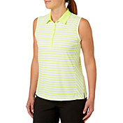 Slazenger Women's Structure Collection Stripe Sleeveless Golf Polo